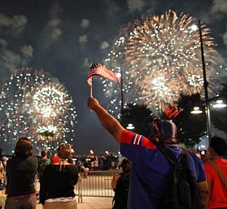 July 4 Fireworks from Glenside