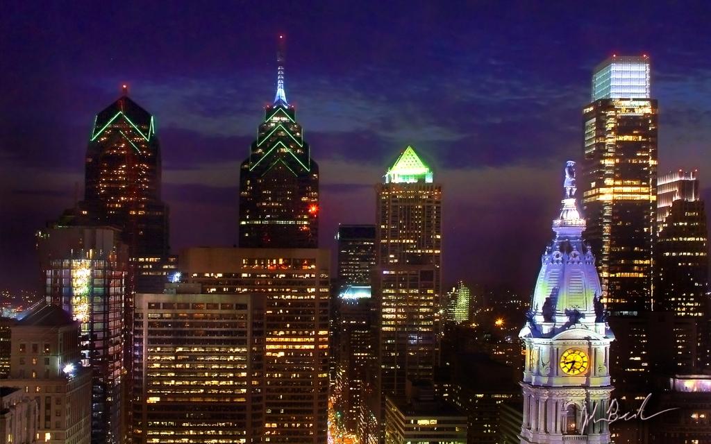 Philly Skyline at night